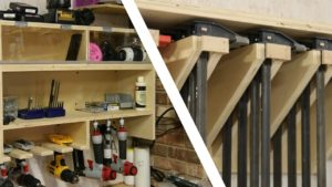 Shop Organization Bundle: Drill Charging Station and Clamp Rack Plans