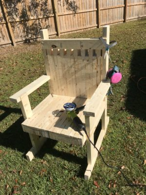 Rocking Chair Power Carving Blank