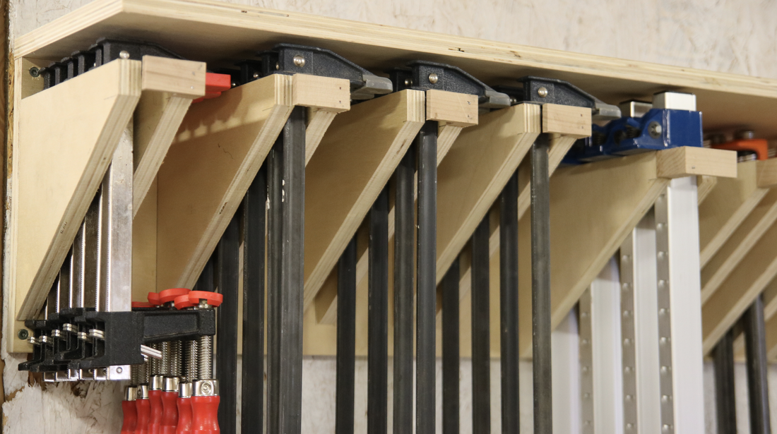 Clamp Rack With Safety Features Plan Stone And Sons Workshop
