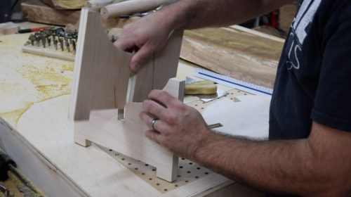 Knock Down Stool - assembly 1