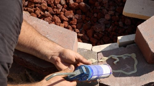 using construction adhesive