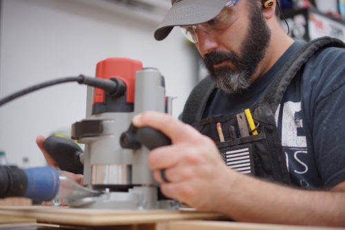 shop vest while using the router