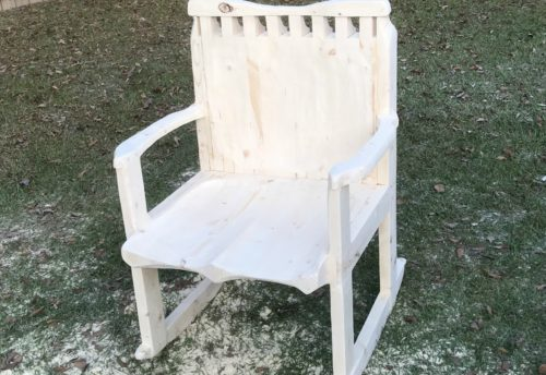 carved rocking chair