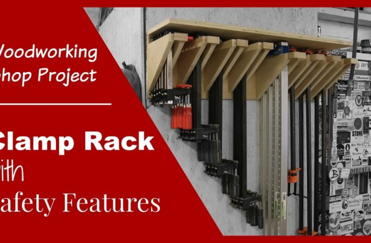 Clamp rack with safety features