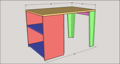 Kids Activity Table with Storage Plan