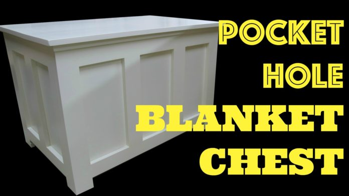 Pocket Hole Blanket Chest