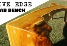 Live edge slab bench thumbnail
