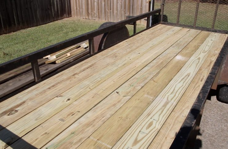 New trailer deck completed