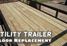 Utility Trailer Deck Replacement