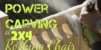 Power Carving a 2x4 Rocking Chair